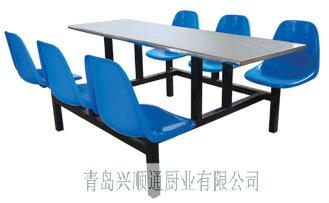 青岛快餐桌-六人不锈钢餐桌